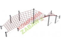 COR229011 - Corkscrew Play Net with steel posts